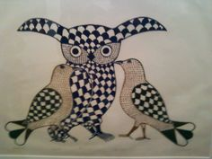 Lithography by Inuit artist Cape Dorset, Canada