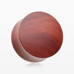 A Pair of Red Sandalwood Convex Double Flared Plug