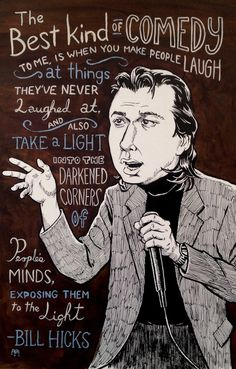 Portrait of Bill Hicks by Ben Walker Storey for Cobb's Comedy Club, SF