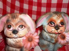 someone did a super creepy pretty job painting these.