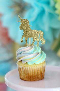Unicorn cupcake topp