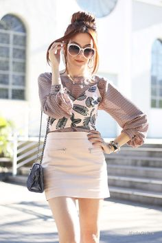 Уличная мода: Новые луки модного блогера Flavia Desgranges van der Linden из Бразилии