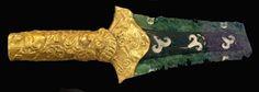 #Mycenaean -- Late Bronze Age -- Sword With Golden Hilt -- Mycenaean -- 1600-1100 BCE -- National Archaeological Museum -- Athens, Greece