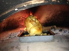 Wood Fired Cider Roast Chicken - Wood Fired Oven Recipe