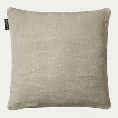 Linum Light Grey Raw Jute Cushion: Raw is a great value 100% jute cushion. One of Linum's recent best sellers now in this new colour. The perfect neutral piece for any interior. Filled with duck feather and down.