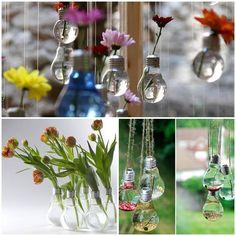 Great Ideas to recycle old light bulbs http://veu.sk/index.php/aktuality/1694-skvele-napady-na-recyklaciu-starych-ziaroviek.html #skvelé #nápady #recyklácia #starých #žiaroviek #great #ideas #recycle #light #bulbs