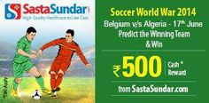 #Predict the 'Winning Team' in the match between #Belgium and #Algeria on 17th June.  http://www.foreseegame.com/user/GamePlay.aspx?GameID=NY70sj1itHXIal1%2bZE%2fIhw%3d%3d