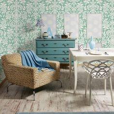 Papel de Parede Adesivo Arabesco Verde e Branco  http://www.stickdecor.com.br/produto/papel-de-parede-adesivo/papel-de-parede-adesivo-arabesco-verde-e-branco/
