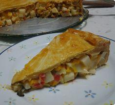 Torta de Palmito com Massa de Refrigerante
