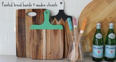 Beautiful bread boards & wooden utensils accented with Chalk Paint® decorative paint by Annie Sloan | By Katrina Chambers Life & Design