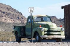 driving route 66 with a pickup truck