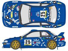 1:24 Subaru Impreza Arai Spike Decals (for Tamiya kit #24227)