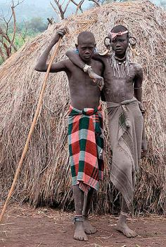 Mursi Boys, Mago National Park  Ethiopia   - Explore the World with Travel Nerd Nici, one Country at a Time. http://TravelNerdNici.com