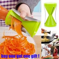 New style Home Garden Vegetable Twister Slicer Spiral Slicer Cutter Graters Kitchen Tools High Quality (Buy One Get Free Gift)
