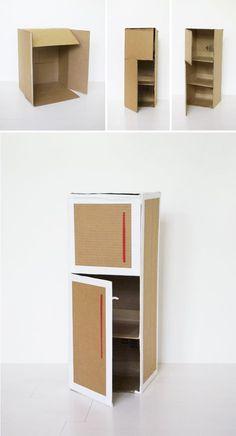 Mer Mag: DIY Play Kitchen - Diy furniture for kids Cardboard Kitchen, Cardboard Play, Diy Cardboard Furniture, Cardboard Dollhouse, Diy Barbie Furniture, Cardboard Crafts, Diy Dollhouse, Dollhouse Furniture, Diy Furniture