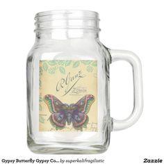 Gypsy Butterfly Gypsy Collection Mason Jar