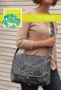Classic Messenger Sewing Pattern. $12.95, via Etsy. - I love the closing buckle on the front of this bag