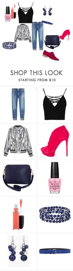 """""""jeans boyfriend"""" by anna-esenova ❤ liked on Polyvore featuring Frame, Boohoo, Sans Souci, B Brian Atwood, Humble Chic, OPI, MAC Cosmetics, Chaps, Chico's and LIU•JO"""