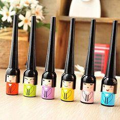 Fahion Japanese Doll Waterproof Black Liquid Pen Eyeliner Smudge Proof Make