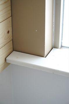 Bathroom Window Molding interior window sill replacement diy | wood working | pinterest