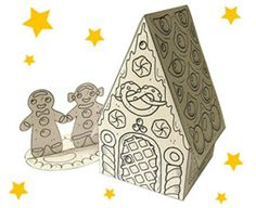 PAPERMAU: Christmas Time - An Easy-To-Build Gingerbread House Paper Modelby Hugo Le Scargot
