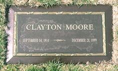 Clayton Moore (1914-1999), the actor who played The Lone Ranger