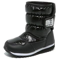 8d8d7d9576cb Kids Winter Snow Boots Waterproof Outdoor Warm Faux Fur Lined Shoes Male  Female  winterfashion