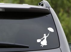 For those who are practically perfect in every way, this is the way to show it!    This listing is for a white vinyl decal with a Mary