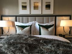Feature Wall Bedroom, Feature Walls, Headboards, Hospitality, Bedrooms, Interiors, House, Furniture, Home Decor