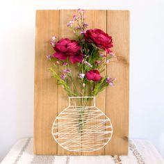 Easy DIY String Art Flower Basket Plaque
