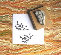 Hand-carved Branch Stamp - $8