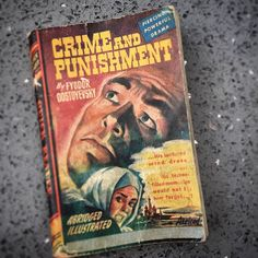 Crime & Punishment abridged and illustrated, Royce, (Chicago, 1944). Pocket paperback designed for US soldiers to carry into battle. #ilovebooks  (at Hampton Common)