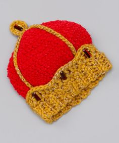 Take a look at this Bambeanies by Gina Red & Gold Crown Knit Beanie by Warmly Wonderful: Kids' Accessories on #zulily today!