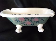 Vintage Ashtray Clawfoot Ceramic Cool Your Hot by VeronikasAttic, $15.00
