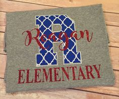 School spirit shirt Reagan Elementary shirt by SweetAlmaJean