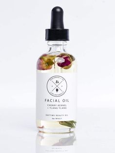 Facial Oil - Cherry Kernel + Ylang Ylang in 2019 Beauty Care, Beauty Skin, Coconut Oil For Face, Sup Yoga, Essential Oil Perfume, Cosmetic Packaging, Facial Oil, Massage Oil, Natural Cosmetics