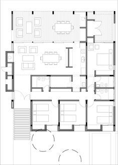 Społeczność ARQA Społeczna sieć architektury, projektowania i budowy Family House Plans, New House Plans, Dream House Plans, House Floor Plans, House Layout Design, House Layouts, Plan Design, Modern Architecture House, Architecture Plan