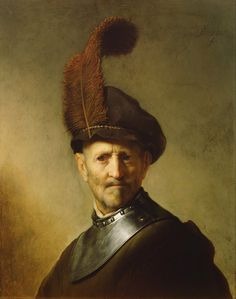 "© Photo, Google Art Project ""An old man in military costume"" (c.1630 - 1631) By Rembrandt Harmenszoon van Rijn, from Leiden, Netherlands (1606 - 1669)"