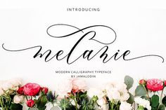 Buy Melanie Script by Jamalodin on GraphicRiver. INTRODUCING Melanie Script Melanie Script is modern script font, every single letters has been carefully crafted to m. Calligraphy Fonts, Script Fonts, Modern Calligraphy, Beautiful Calligraphy, Handwritten Fonts, Font Logo, Modern Typeface, Modern Script Font, Wedding Invitation Fonts