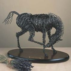 Bailing Wire Horse Sculpture by Clayton Boyer Wire Art Sculpture, Horse Sculpture, Animal Sculptures, Wire Sculptures, Abstract Sculpture, Bronze Sculpture, 3d Art Projects, High School Art Projects, Sculpture Projects