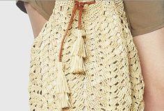 envelope vermelho bolsa de crochê