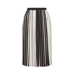 TopShop Monochome Stripe Pleated Midi (€79) ❤ liked on Polyvore featuring skirts, bottoms, topshop, monochrome, striped skirt, full skirt, striped full skirt, stripe skirt and topshop skirts