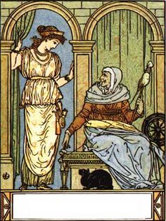 """Illustration by Walter Crane from """"The Bluebeard Picture Book"""", London: George Routledge and Sons, 1875"""