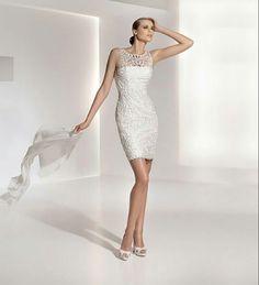 Vestido blanco pegado