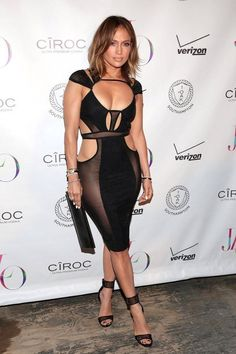 Pin for Later: Jennifer Lopez Proves Age Is Just a Number at Her Sexy Birthday Party Jennifer Lopez Ropa, Jennifer Lopez Birthday, Sheer Dress, Bodycon Dress, Sexy Dresses, Evening Dresses, Non Blondes, Celebs, Celebrities