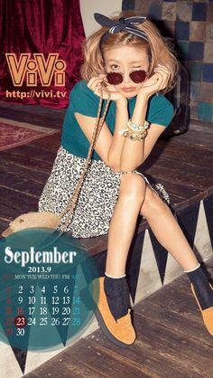 ViVi2013年9月スマホカレンダー壁紙(大石参月)