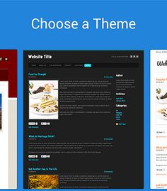 create websites (they say free) with Weebly