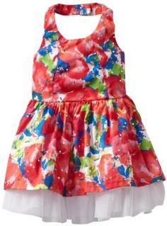 Little Lass Baby-girls Infant 1 Piece Dress with Slip, Red, 12 Months Little Lass. $12.00