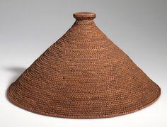// Hat from the Ngwato (Bamanwato) people of Serowe.| Plant fiber | ca. 1907. | Botswana