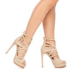 Nude heel sandals//